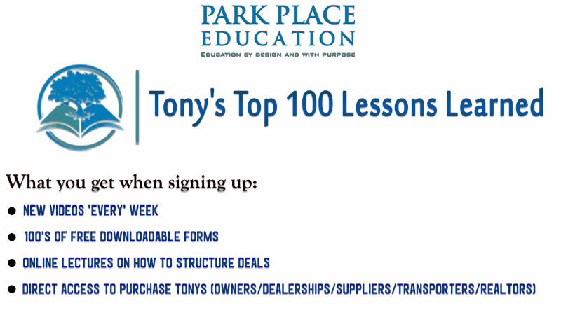 Tony's Top 100 Lessons Learned